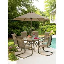 Patio Table Set With Umbrella by Garden Oasis Grandview 7 Pc Dining Set