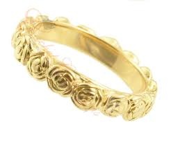 cleopatra wedding ring garden of roses yellow gold wedding ring da09841 01 da0984101