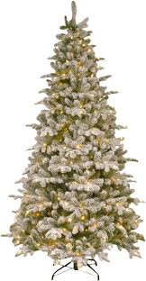 frosted green faux fir artificial tree with white light