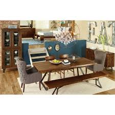 home trends design london loft dining table in walnut london loft rectangular dining set by home trend design texas