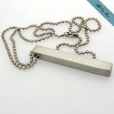 Mens Personalized Necklace Mens Engraved Necklace The Necklace