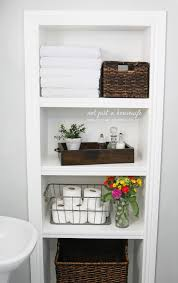 Recessed Shelves In Bathroom Bathroom Shelves Risenmay