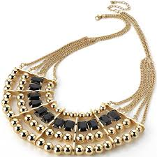 chunky necklace designs images Very fashionable chunky stylish dress wear trendy half moon ball jpg