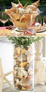 Seashell Centerpieces For Weddings by 25 Sea Shell Crafts Love The Bottom One In The Pic Diy