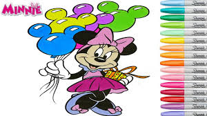 minnie mouse coloring book pages disney rainbow splash mickey