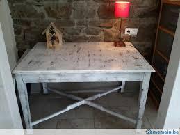 cuisine blanc cérusé table salle a manger ou cuisine ou bureau chene ceruse blanc a