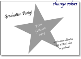 simple invitation templates with full photo frames heart star