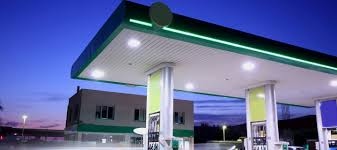 led gas station canopy lights manufacturers gas station canopy led fixtures led source