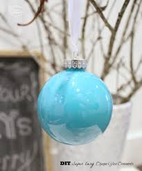 diy easy opaque glass painted ornaments blue