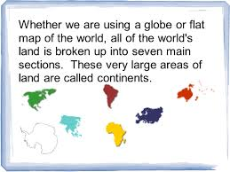 Map Of The 7 Continents Continents And Oceans Ppt Download