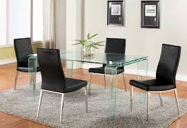 glass dining room table sets dining room affordable glass dining room table with 4 black