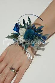 shop scottish inspired vibrant blue thistle u0026 heather wrist