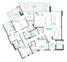 Floor Plans Florida by 3 Bedroom Florida Penthouse Sarasota Waterfront Community