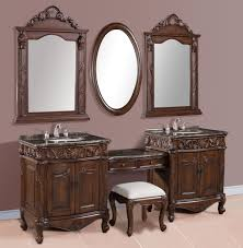 inch double sink makeup bathroom vanity set with granite tops