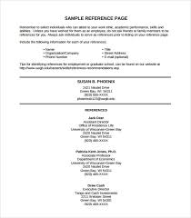 Reference Page Resume Template Resume And Reference Template Download Resume Reference