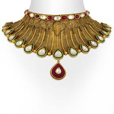 antique gold necklace images Gold necklace antique gold choker set jpg