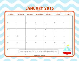 cute january 2016 calendar printable monthly calendar
