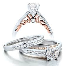 Rose Gold Wedding Ring Sets by 1 Carat Vintage Round Diamond Wedding Ring Set For Her In White