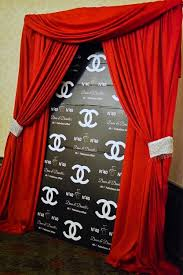 custom photo backdrops fabulous chanel customize photo backdrop your guest will