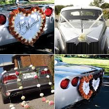 car decorations ways to decorate the wedding car confetti co uk