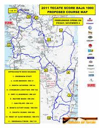 Baja Map Proposed Course Map For The Score Baja 1000 2011 Honda Trx