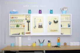 pegboard storage containers build an organized pegboard tool cabinet and simple workbench