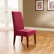 Sure Fit Soft Suede Short Dining Room Chair Covers Walmartcom - Short dining room chair covers