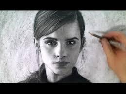 drawing emma watson portrait art video beauty beast