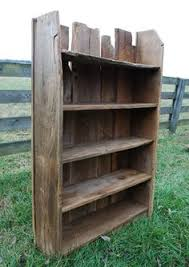 Making Wood Bookshelves by Barn Wood And Corrugated Metal Book Shelves Barnwood Furniture