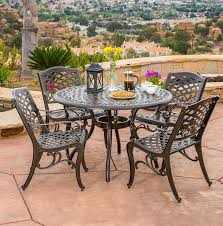 Aluminium Patio Table 20 Sturdy Sets Of Patio Furniture From Cast Aluminum Home Design