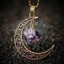 moon necklace images Purple moon necklace domestic violence advocates jpg