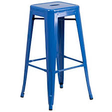 blue bar stools kitchen furniture flash furniture 30 high backless blue metal indoor