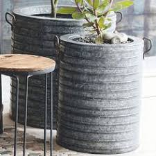 Corrugated Metal Planters by Just Buy A Large Sheet Of Corrugated Metal At Home Depot And Keep