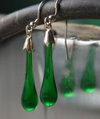 green drop earrings green drop earrings bristol glass co uk