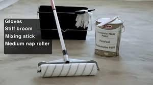 Industrial Concrete Floor Paint How To Paint A Concrete Floor Youtube