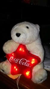 coca cola light up christmas tree topper polar bear 1997