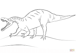 jurassic world suchomimus coloring page free printable coloring