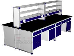 Science Lab Benches Chemicial Steel Laboratory Island Bench With Reagent Shelf Buy