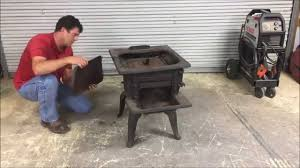 how to mig weld cast iron on a wood burning cook stove youtube