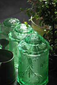 289 best cool kitchen canisters images on pinterest green depression glass canisters