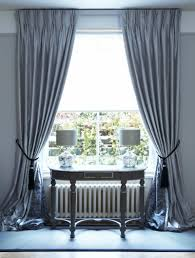 interlined twin pinch pleat silk curtains on lath u0026 fascia