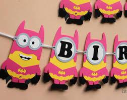 Minion Birthday Decorations Minion Superhero Etsy
