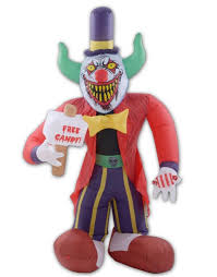 ft free candy killer clown halloween airblown inflatable