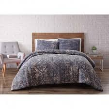 brooklyn loom sand washed cotton denim blue comforter and quilts