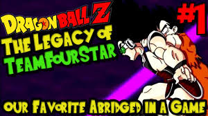 our favorite abridged in a game dragon ball z the legacy of