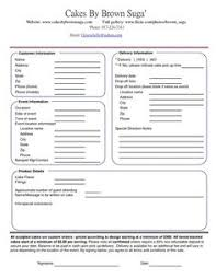 wedding cake order form cake order forms templates search tips charts things to
