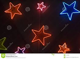 shaped neon lights stock image image of background 1166089