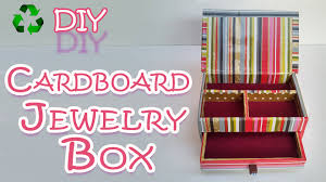 Decorative Cardboard Storage Boxes Home Organization How To Make A Cardboard Jewelry Box Ana Diy Crafts Youtube