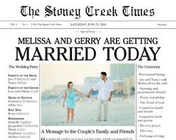 newspaper wedding program newspaper wedding program etsy