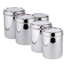 Black Canister Sets For Kitchen 5 Best Stainless Steel Kitchen Canister Set U2013 Convenient And Handy